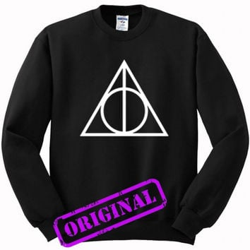 Deathly Hallows for sweater black, sweatshirt black unisex adult