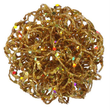 Christmas Ornament - Gold Curly Ball