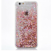 Rose Gold Cascading Glitter Case for iPhone 5, 6, 6 Plus