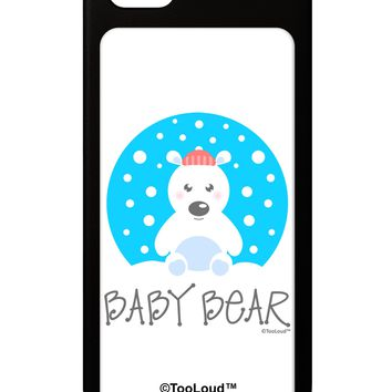 Matching Polar Bear Family - Baby Bear iPhone 5 / 5S Grip Case  by TooLoud