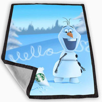 Hello olaf Starbucks Blanket for Kids Blanket, Fleece Blanket Cute and Awesome Blanket for your bedding, Blanket fleece *