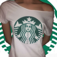 Starbucks Style Coffee Preferences Off The Shoulder Tee
