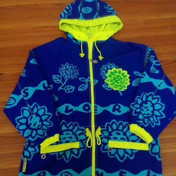 Ellesse windbreaker Flora  hoodie pop art vintage
