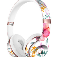 Subtle Watercolor Pink Floral Full-Body Skin Kit for the Beats by Dre Solo 3 Wireless Headphones