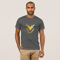Elegant Christmas Golden Reindeer Men's T-shirt