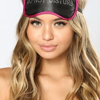 Ms. Do Not Disturb Eye Mask - Black