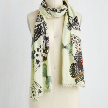 With Flying Flutters Scarf by Disaster Designs from ModCloth