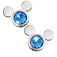 Mickey Mouse Icon Earrings by Arribas - Blue