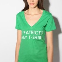 UrbanOutfitters.com > St. Patrick's Day T-Shirt V-Neck Tee