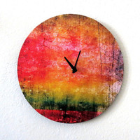 Large Eclectic Clock,  Home and Living, Black Wall Clock, Decor & Housewares, Living Room Decor, Unique Gift