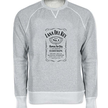 lana del rey sweater Gray Sweatshirt Crewneck Men or Women for Unisex Size with variant colour