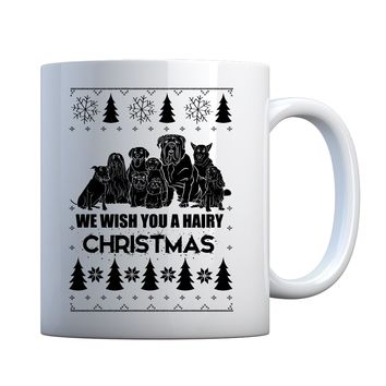 Mug We Wish You a Hairy Christmas Ceramic Gift Mug