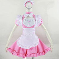 Halloween Costume Kawaii Inu x Boku SS Pink Maid Dress Free Ship SP141256 from SpreePicky