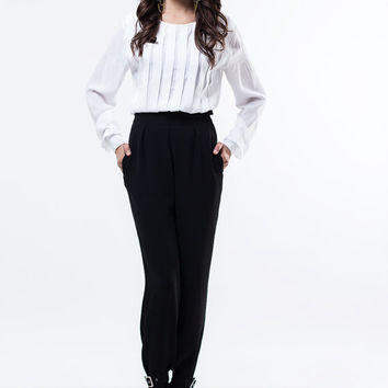 Black trousers / High waist trousers / Black pants / Women pants