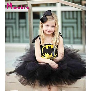 Superhero Children Girl Tutu Dress Photo Props Kids Fancy Tutu Dress Little Girl Cosplay Halloween Costume Birthday Gift DT-1619