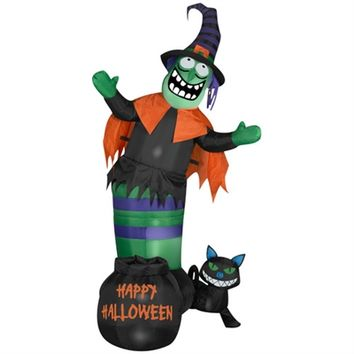 SheilaShrubs.com: Airblown Inflatable Animated Wobbling Witch Scene 63680 by Gemmy: Halloween