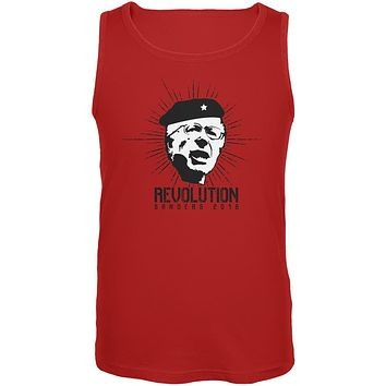 Election 2020 Bernie Sanders Che Guevara Parody Red Adult Tank Top