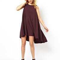 ASOS Swing Dress With Dipped Hem
