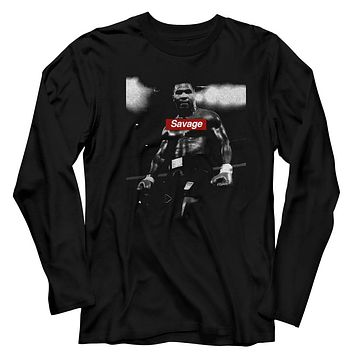 Mens Mike Tyson Savage Long Sleeve Shirt
