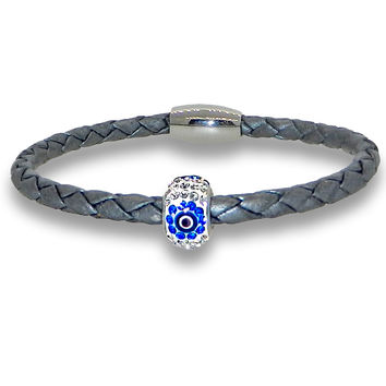 Liza Schwartz Single Evil Eye Bracelet - Silver