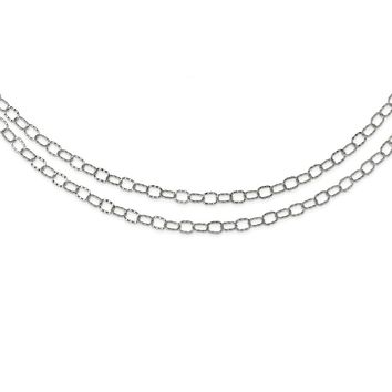 Stainless Steel Multi Chain Layered Necklace 28in