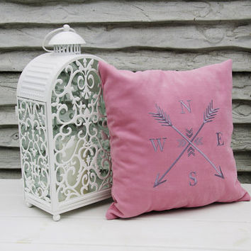 Personalized Pillow Covers Arrow Compass Rose Nautical Pillows Pillowcase Decorative Pillow Cover Arrows Home Decor Throw Pillows Gift V24