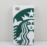 Starbucks Coffee Seatle Latte imega Case Cover,Plastic Shell Hard Case Cover Iphone 4 4S