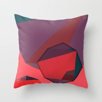 Shape Play 3 Throw Pillow by Ducky B