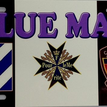 Blue Max Automotive Front License Plate Decorative ONLY!
