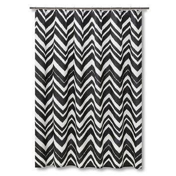 Mudhut™ Chevron Zig Zag Shower Curtain