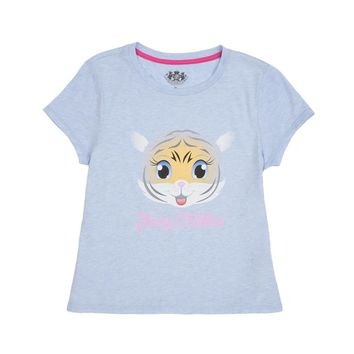 Heather Crystal Clear Girls Zoo Animal Graphic Tee by Juicy Couture,