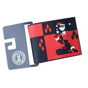 New Moviels Harley Quinn SUICIDE SQUAD ONCE Anime Wallets Short Leather Mens Purse Money Photo Balsos Cards Holder Coins Pocket