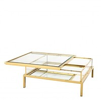 Gold Sliding Top Coffee Table | Eichholtz Harvey