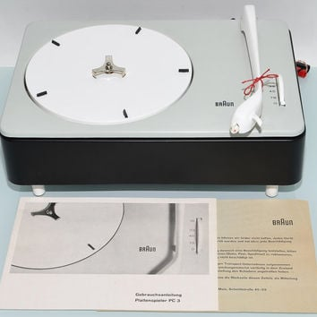Dieter Rams BRAUN PC3 SV turntable new in box by VintageEuroDesign