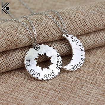 Game of Thrones Khaleesi Drogo Pendant Necklace My Sun And Stars moon of My Life maxi necklace LOVE  jewelry Valentine's gift