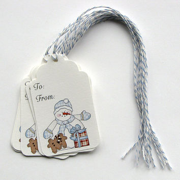 Christmas snowman gift tags, Holiday tags,  gift tags, christmas gift tags, hang tags, paper tags, gift packaging