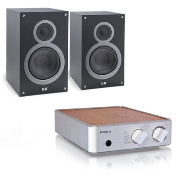 PS Audio: Sprout Integrated Amplifier + Elac B5 Bookshelf Speakers
