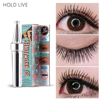 HOLD LIVE 3D Fiber Lashes Mascara Volume Waterproof Lengthening Mascaras Black Color Natural False Lash Eyes Cosmetics Make Up