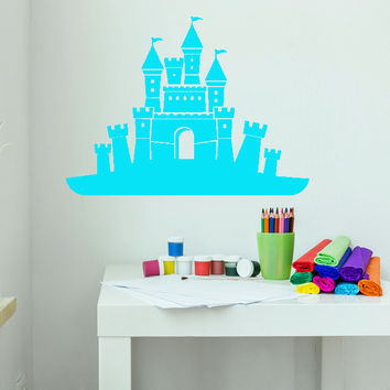 Vinyl Wall Decal Fairytale Princess Castle Nursery Decor Stickers Unique Gift (1307ig)