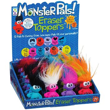 Monster Pals Eraser & Pencil Topper - 48 Units