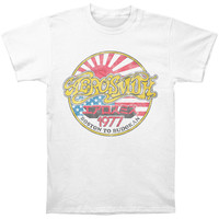 Aerosmith Men's  Boston To Budokan Slim Fit T-shirt White Rockabilia