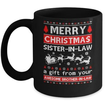 IKCKIJ3 Merry Christmas Sister-In-Law A Gift From Your Brother-In-Law Sweater Mug