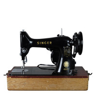 Vintage 1950s Classic Singer Sewing Machine, Excellent Vintage Condition, Newer Wiring -SALE