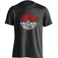 Pokemon Silhouette Pokeball Short Sleeve Tshirt