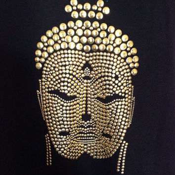 Buddha Studded TShirt or Hoodie for Women by MadJoApparel on Etsy