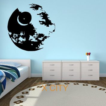 STAR WARS DEATH STAR Movie Vinyl Wall Art Sticker Decal Children Room Door Window Stencils Mural Decor S M L