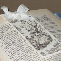 Vintage French Toile Magnetic Bookmark by modernSCRAPYARD on Etsy
