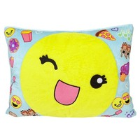 EMOJI FULL SIZE COZY PILLOW | GIRLS SLEEPOVER SHOP NOW TRENDING | SHOP JUSTICE