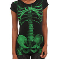 Kreepsville Green Skeleton Tunic Top | Hot Topic