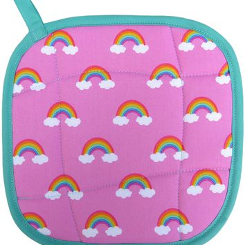 80's Rainbows Retro Handmade Pot Holder